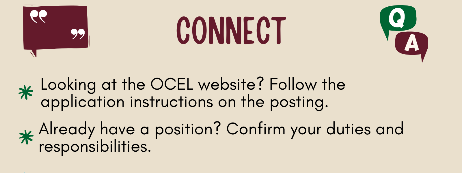 Connect with the organization that you are interested in working with