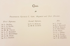 Vassar Choir Roster (1894-1895)