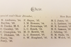 Vassar Choir Roster (1893-1894)