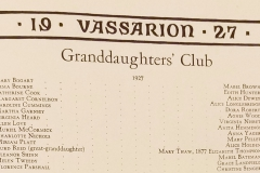 Vassar Granddaughter's Club Roster (1927)