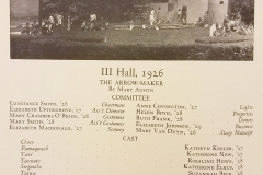 III Hall, 1926 Cast and Crew