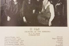 II Hall, 1925 Cast and Crew
