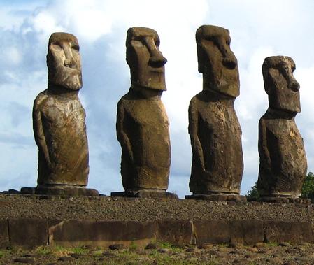 Easter Island Heads Gods