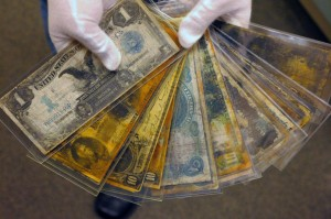 Many artifacts, including currency, have been recovered from the Titanic.