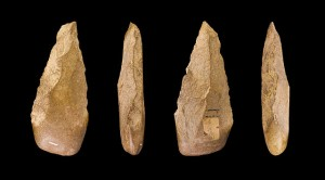 Hand axes of the Acheulean type.