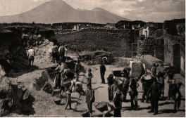 This picture depicts the excavation of Pompeii after the eruption of Vesuvius over 2,000 years prior.