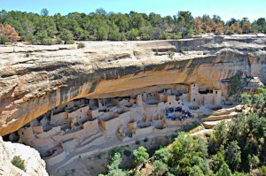 Cliff Palace, Mesa Verde National Park. Example of how the Pueblo Society became.