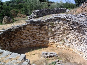 The remains of a Mycenaean tholos