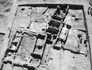 Above is an aerial photograph of Hamoukar which provides archaeologists a better view and interpretation of the site [1].