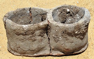 "Bread forms that were excavated from the ancient city Umm Magawir.  Umm Magawir means to ""Mother of Bread Molds"""