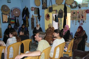 Students at Center for Women's Traditional Crafts in Arab village.