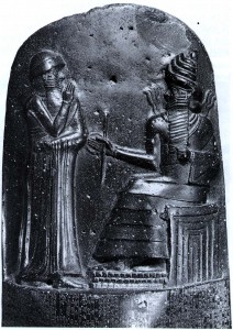 Hammurabi with Shamash, god of Justice