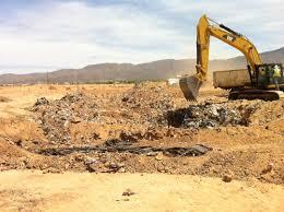 Figure 1: Excavation of landfill in Alamogordo
