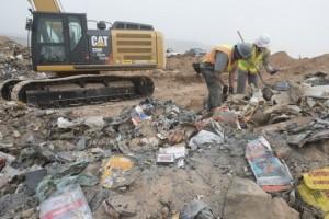 Use of bulldozer in Atari landfill excavation