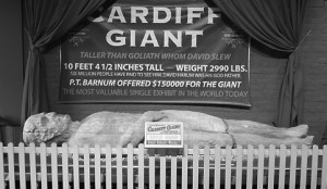 The Cardiff Giant on display at the Farmers Museum in Cooperstown,  NY