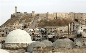 The Aleppo castle where pro-government forces are based