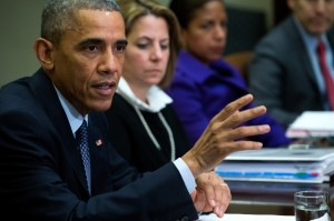 President Obama discussing the details of his executive order, prior to its release on Thursday.