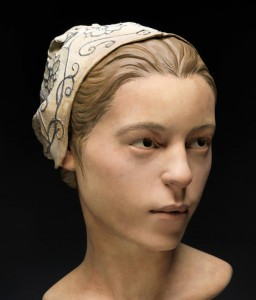 "Reconstruction of ""Jane"", 14-year-old eaten during the ""Starving Time"", 1609-1610."