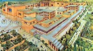 Knossos Palace as would've appeared during the Neopalatial Period (1700 B.C-1400 B.C)