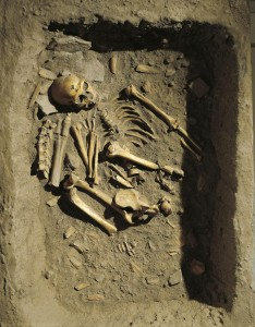 Reconstruction of Neanderthal Burial in La Chapelle-aux-Saints, France