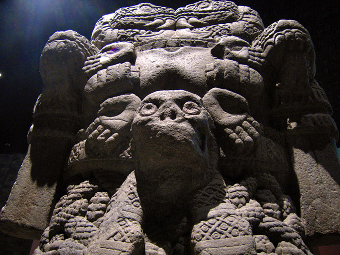 Statue of Aztec earth goddess Cihuacoatl