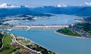 The Three Gorges Dam is the largest hydroelectric project ever constructed, and flooded 632 square kilometers of land beyond the existing banks of the Yangtze River.