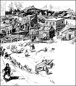 "A depiction of Seneca Village from an edition of ""Harper's Monthly"""