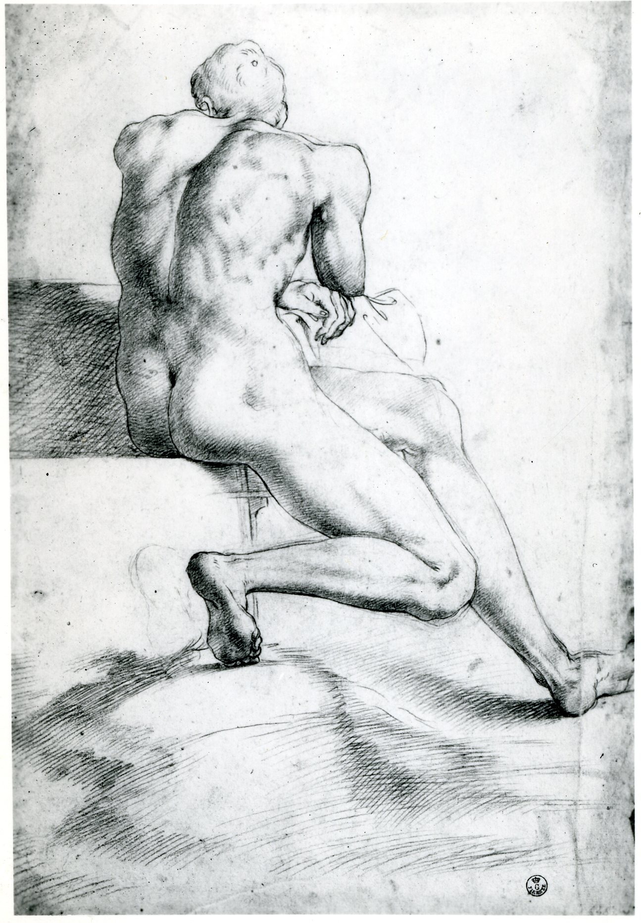 D.22 Seated Nude Youth
