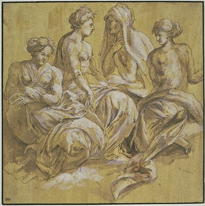 D.27A  Four Seated Women