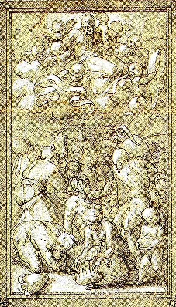 D.37c Altar, Gathering of Manna, detail