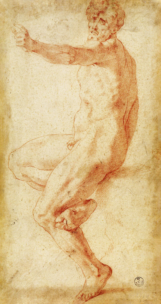 D.9 Seated Male Nude