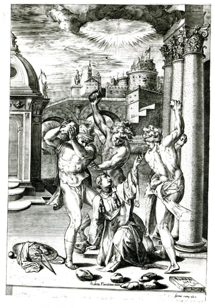 Fig.E.2b Alberti,  Stoning of Saint Stephen