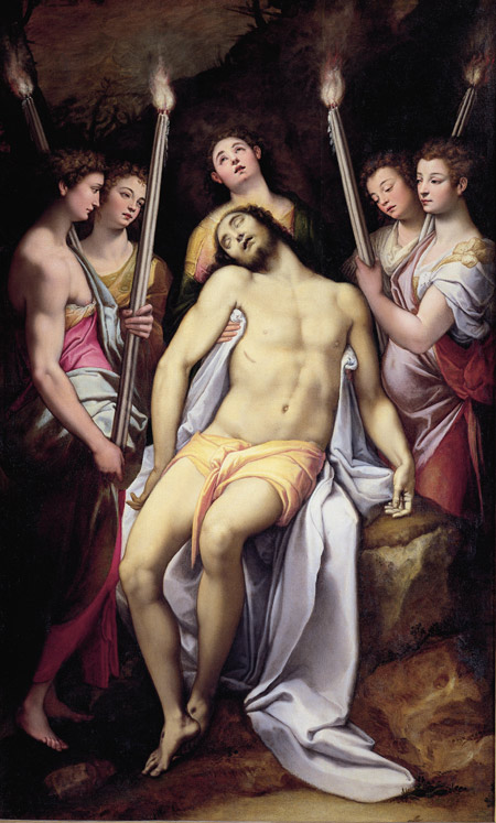 Federico Zuccaro, Dead Christ attended by Five Angles, 1559-60, Rome, Borghese Gallery