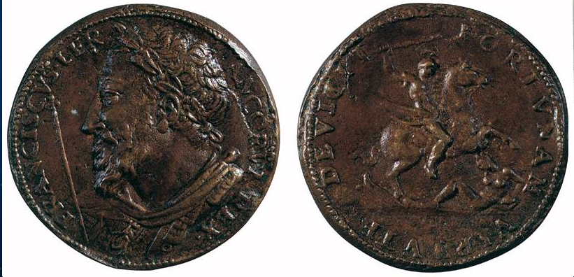 Cellini, Medal of Francis I, verso, Florence, Bargello