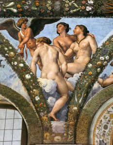Raphael. Three Graces, Rome, Villa Farnesina