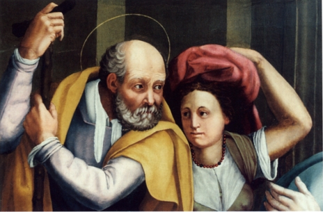 Fig.Lappoli,Visitation color,detail