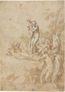 Parmigianino, Nymphs Bathing