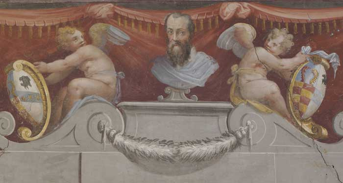 Fig. Vasari's coat-of-arm, Florence house
