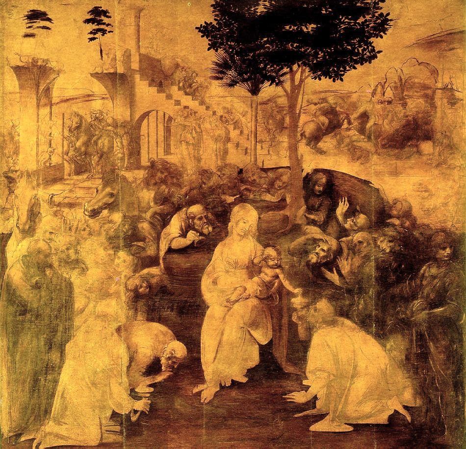 Fig. Leonardo, Adoration of the Magi