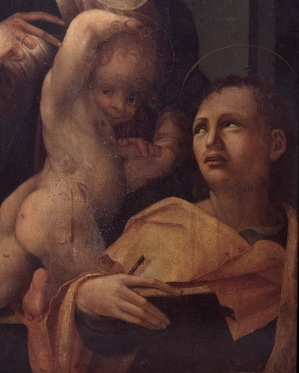 P.2AaBis, detai, Chirst Child & St. John