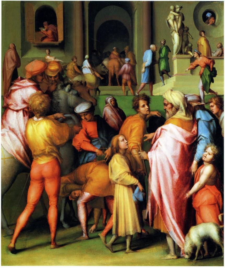 Fig. Pontormo, Joseph sold to Potiphar