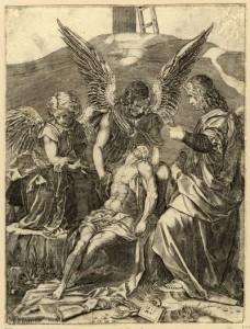 Agostino Veneziano, after Sarto, Puccini Pietà