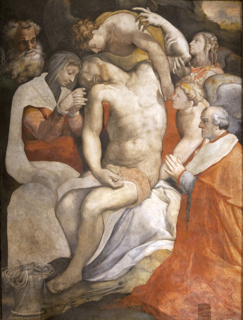 Francesco Salviati, Descent from the Cross, Chapel of the Pietà, S. Maria dell'Anima, Rome
