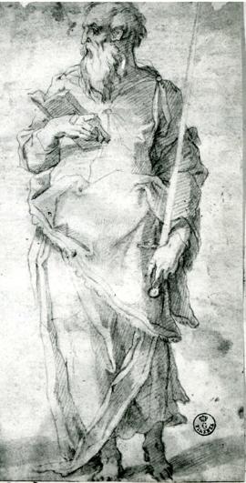 Fig. Vasari, Saint Paul, Florence 7061F detail