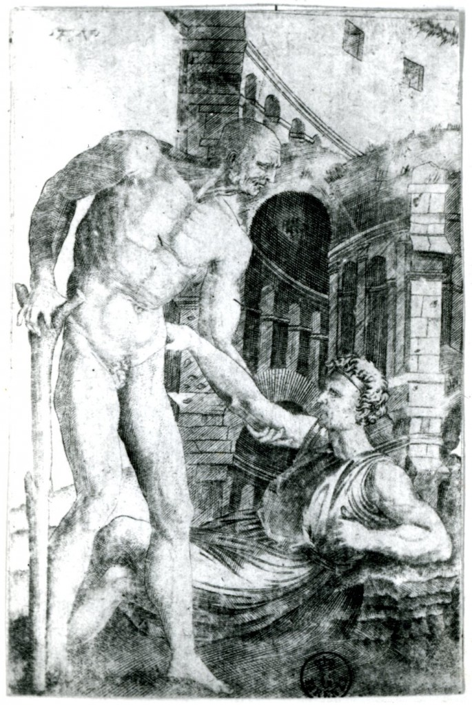 Fig. Veneziano, Old Man Helping Another