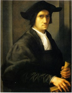 RP.8 Portrait of a Man Holding a Book and a  Glove