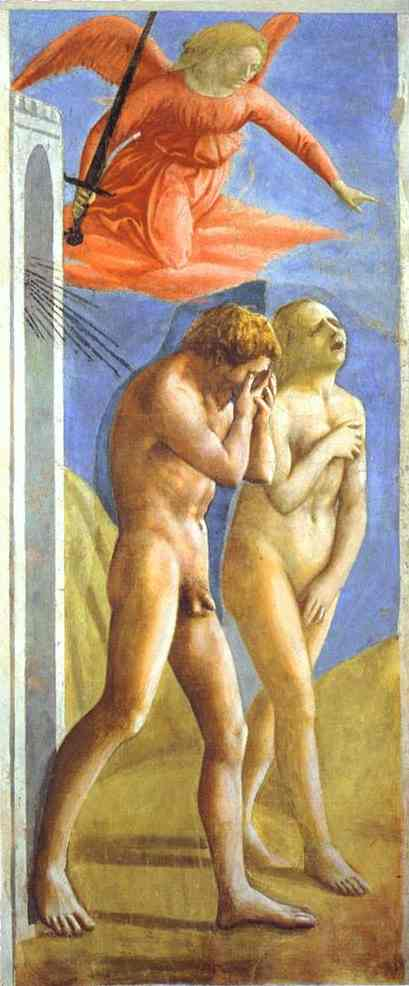 Fig.Masaccio, Expulsion of Adam and Eve