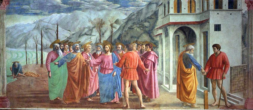 Fig. Masaccio, Tribute Money