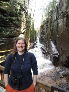Taking a break from warbler watching at Flume Gorge in New Hampshire