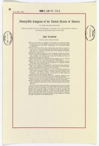 The American Indian Religious Freedom Act of 1978
